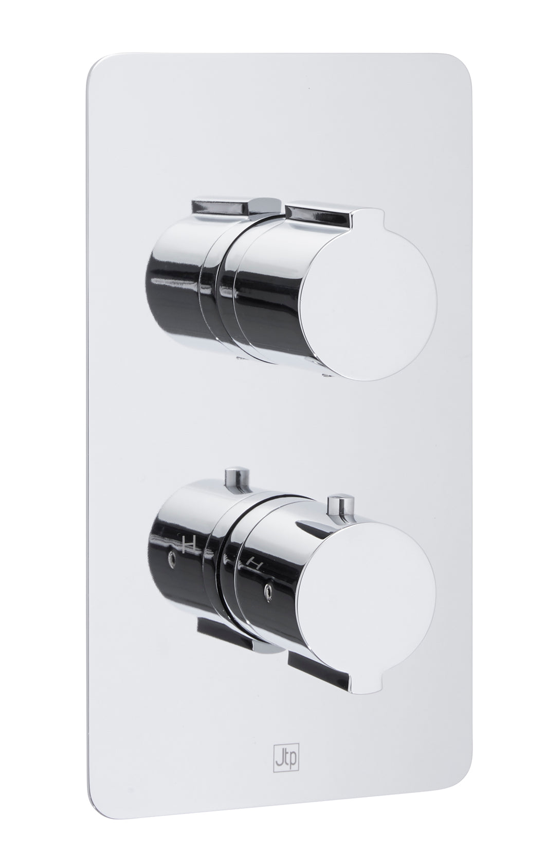 Curve Thermostatic Concealed 2 Outlet Shower Valve - Vertical - Tapron