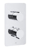 Luna Thermostatic Concealed 3 Outlet Shower Valve - Vertical [72681]