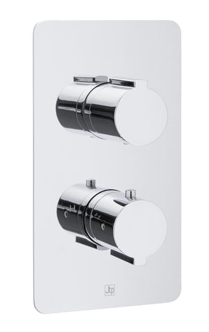 Luna Thermostatic Concealed 2 Outlet Shower Valve - Vertical [72671]