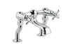 Chester Crosshead Deck Mounted Bath Filler - Nickel [76223NK]