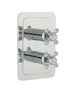 Chester Crosshead Two Outlet Concealed Thermostatic Shower Valve - Nickel [76671NK]