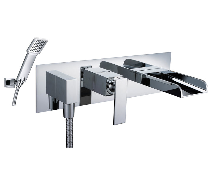 Cascata Concealed Wall Mounted Bath and Shower Mixer with Kit - Tapron