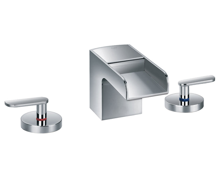 Cascata 3 Hole Waterfall Basin Mixer - Tapron