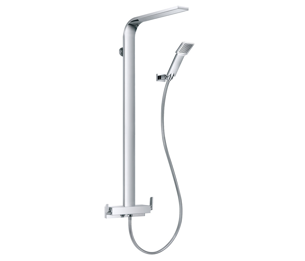 Cascata Single Lever Shower Mixer with Rain Shower - Tapron