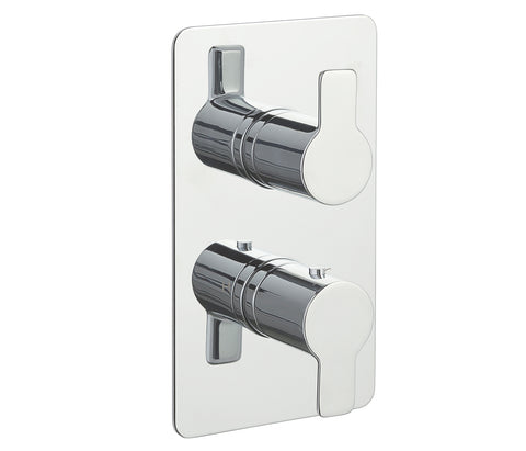 Chronos Chrome Thermostatic Concealed 3 Outlet Shower Valve - Vertical [79681]