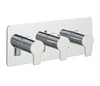 Chronos Chrome Thermostatic Concealed 2 Outlets Shower Valve  Horizontal [79693]