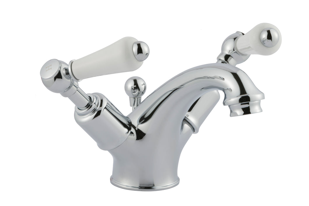 Chester Lever Basin Mixer With Pop-up Waste - Nickel