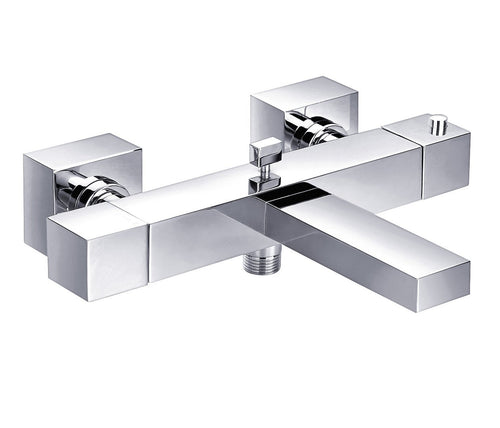 Gaia Square Deck Mounted Thermostatic Bath Shower Mixer, HP1 - Tapron