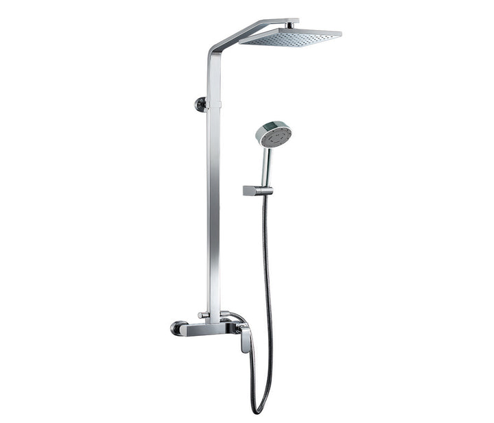Flora Single Lever Shower Mixer with Riser Rail Kit | tapron.co.uk