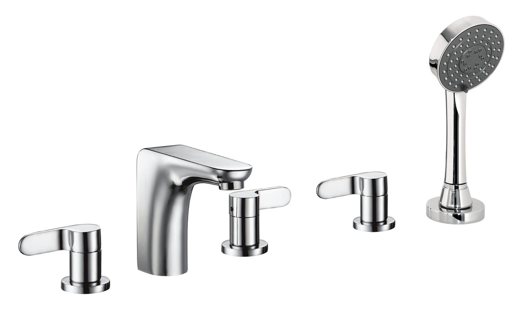 5-Hole Bath Shower Mixer with Extractable Handset