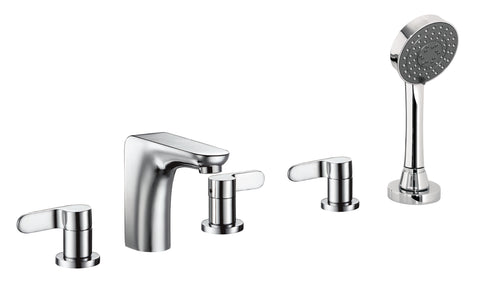 Flora 5-Hole Bath Shower Mixer with Extractable Handset [87277A]