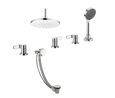 Flora 4-Hole Bath Shower Mixer with Bath Filler [87678]