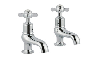 Chester Pinch Bath Pillars - Chrome