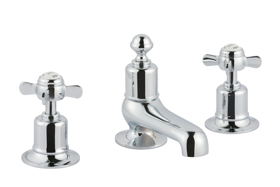 Chester Pinch 3-hole Deck Mounted Bath Filler - Chrome