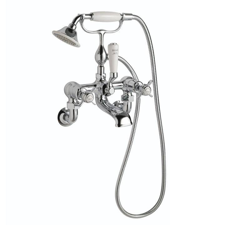 Chester Pinch Wall Mounted Bath Shower Mixer with Kit - Chrome [98275 Chrome]