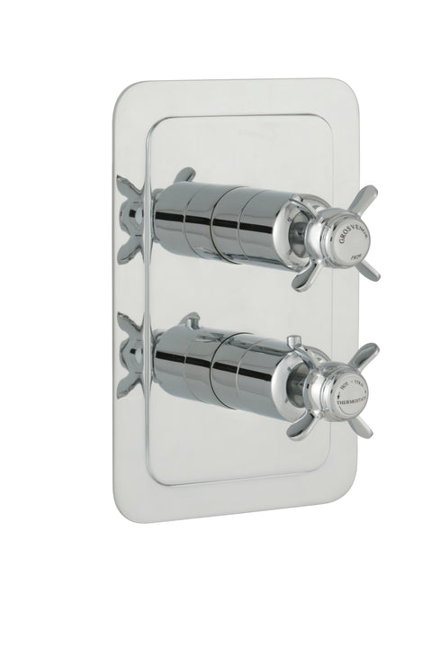 Chester Pinch Thermostatic Conceal 1 Outlet Shower ValveVertical - Nickel