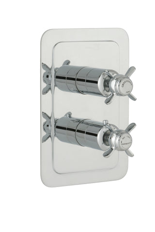 Chester Pinch Thermostatic Conceal 1 Outlet Shower Valve Vertical Chrome [98651]