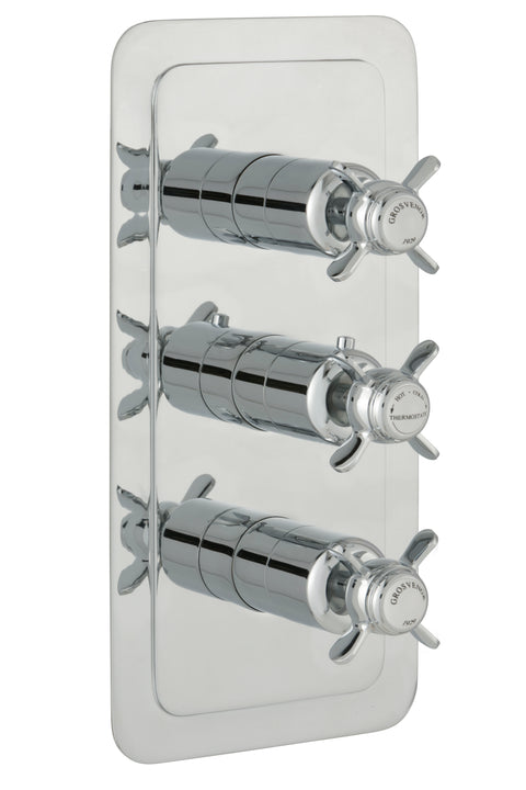 Chester Pinch Thermostatic Conceal 3 Outlet Shower Valve Vertical