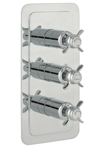 Chester Pinch Thermostatic Conceal 3 Outlet Shower Valve Vertical [98691NK]