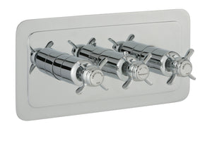 Grosvenor Pinch Thermostatic Conceal 3 Outlet Shower Valve Horizontal