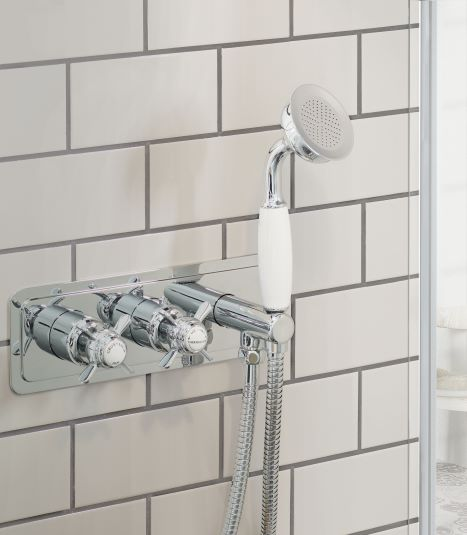 Chester Pinch Thermostatic Concealed 2 Outlet Valve and Handset