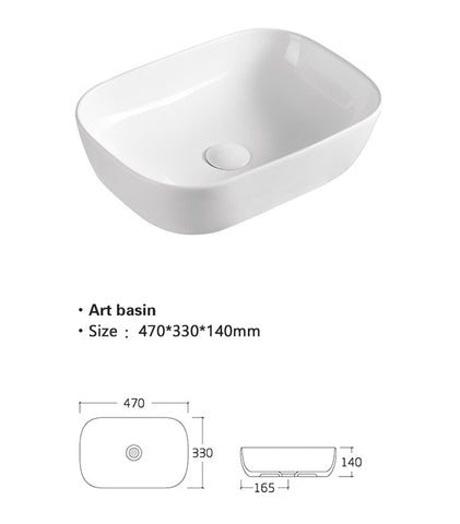 Counter top ceramic basin [TRAB800]