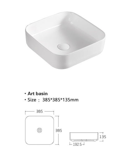 counter top ceramic basin