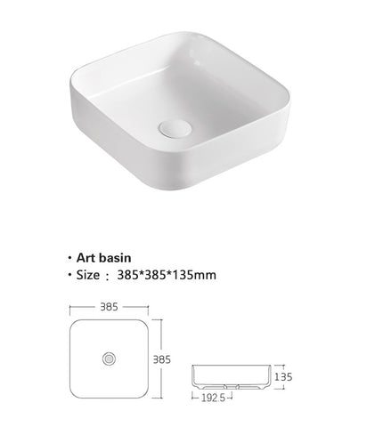 Counter top ceramic basin [TRAB801]
