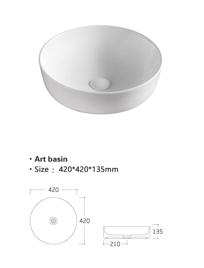 Countertop Ceramic Basin [TRAB804]