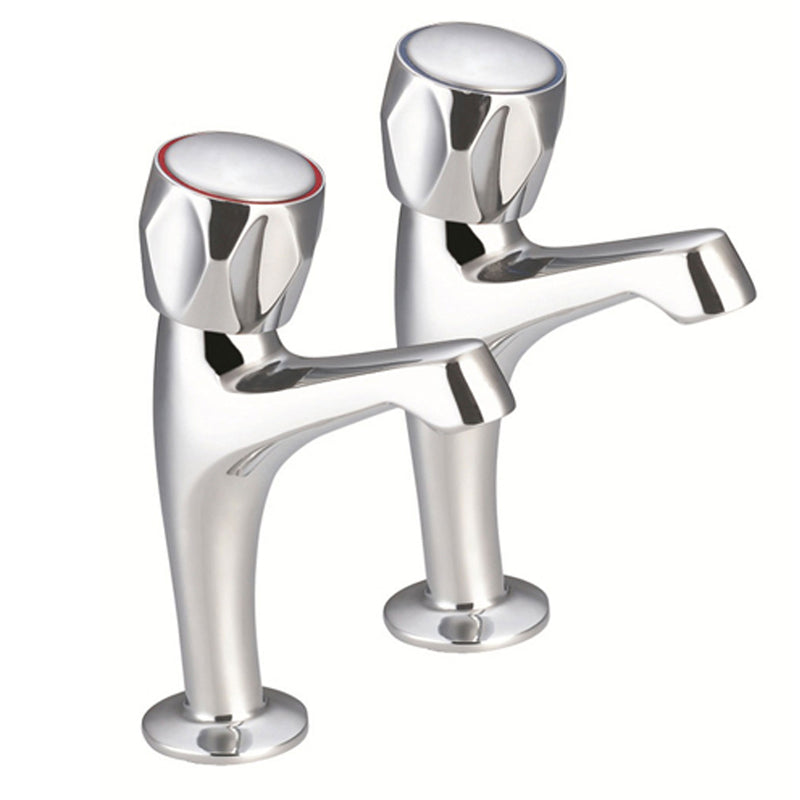 Astra Pair of Traditional Kitchen Lever Sink Pillar Taps Chrome Plated  [3021]