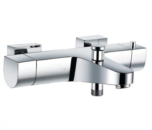 Base Thermostatic Wall Mounted Bath Shower Mixer - Tapron
