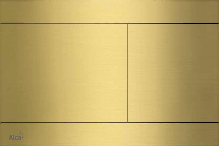 Square Brush Gold Plate