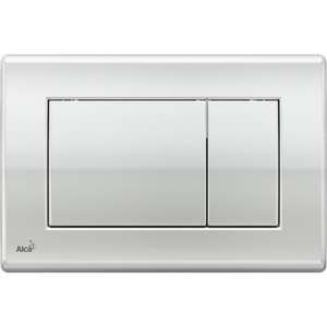 Square Chrome Large Button Plate