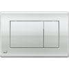 Square Chrome Large Button Plate [TRB0SQ11]