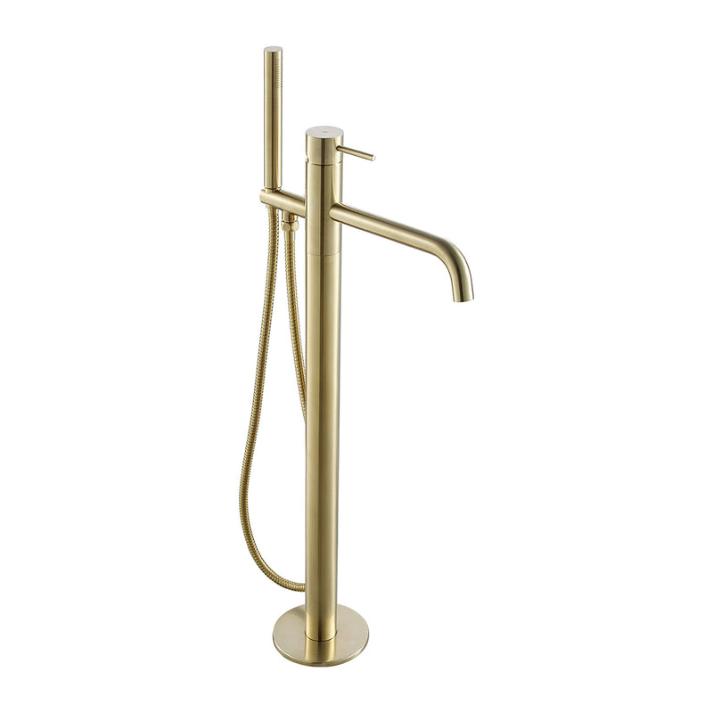 VOS Floorstanding Bath Shower Mixer with Kit Brushed Brass, HP 1