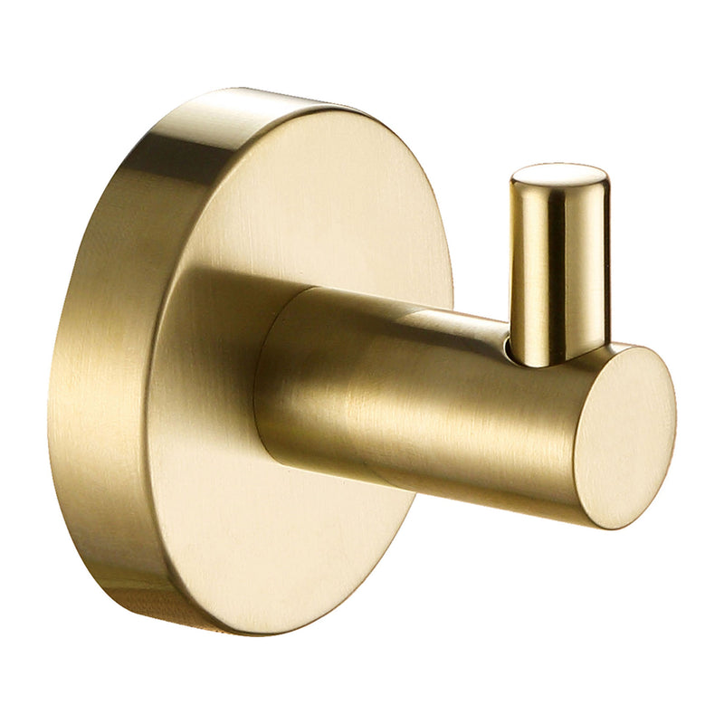 VOS Single Robe Hook Brushed Brass