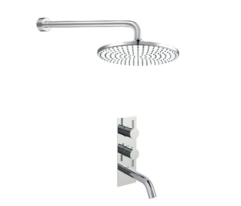 Round Thermostat Bath Shower Filler with Overhead [COM048]