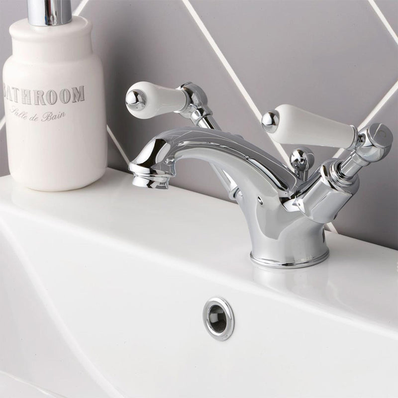 Chester Lever Basin Mixer With Pop-up Waste - Chrome