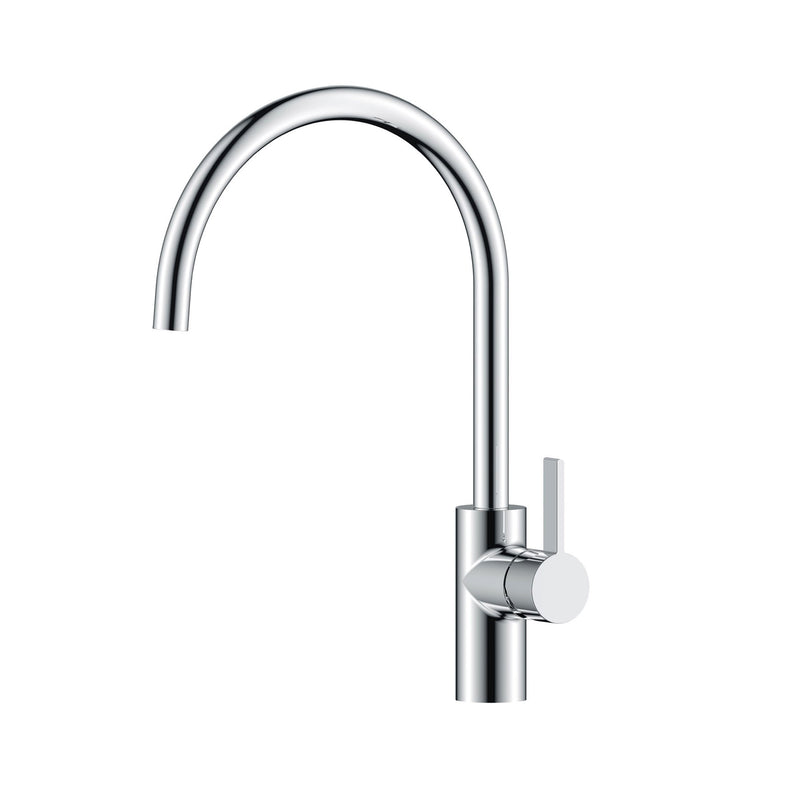 Easy to Clean Single Lever Monobloc Kitchen Tap with High Shine Chrome Finish HP1 Height 410mm x Projection 240mm [X181]