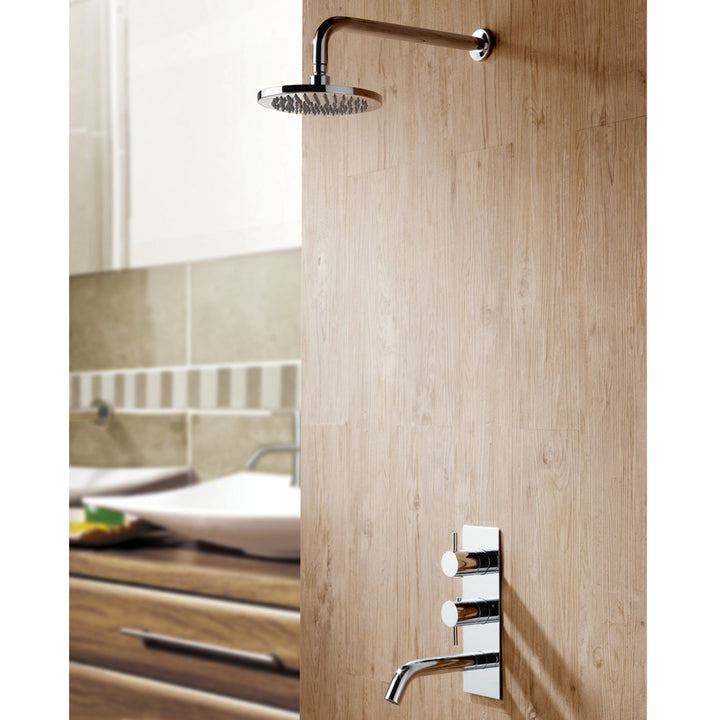 Eos Thermostatic Concealed 2 Outlet Shower Valve with Spout