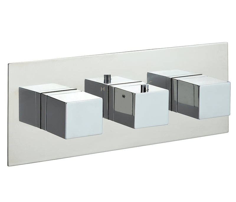 Gaia 2 Outlets Thermostatic Shower Valve - Horizontal