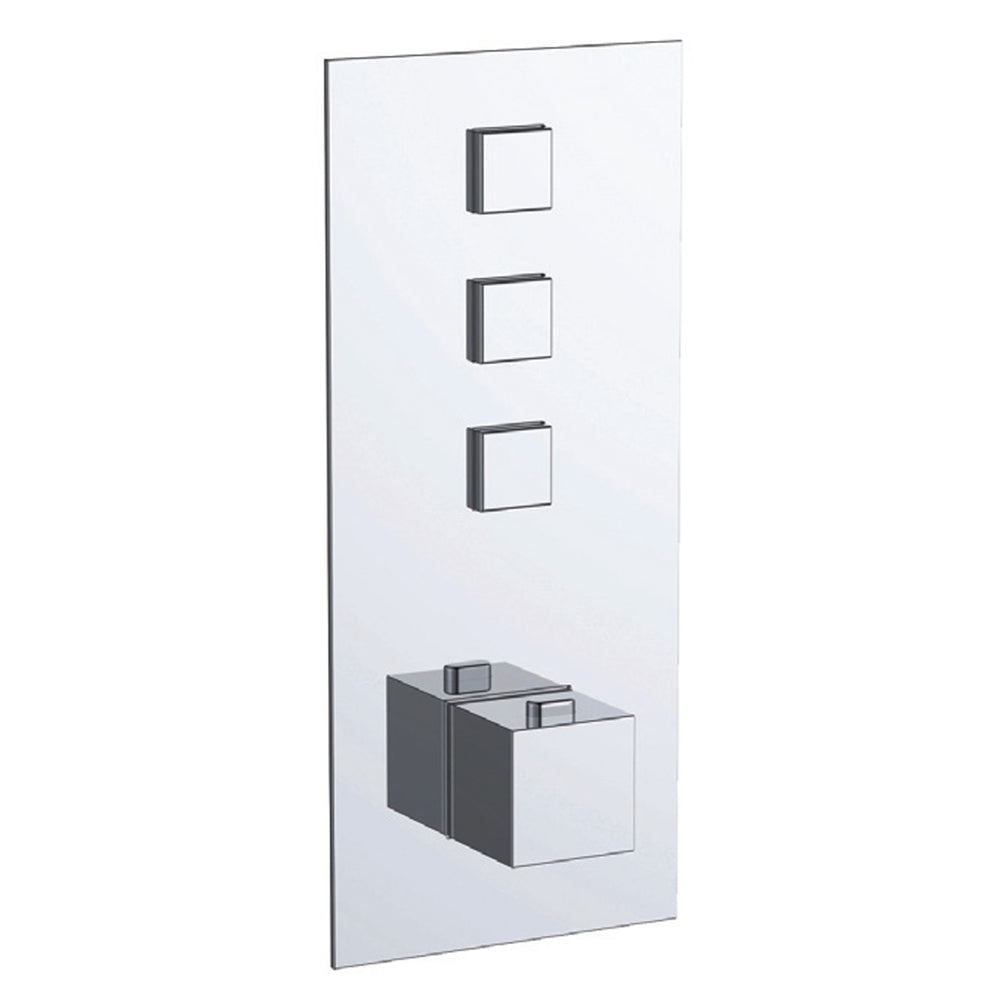 Gaia 3 Outlet Touch Thermostatic Shower Valve