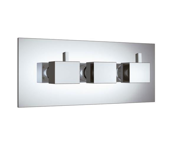 Gaia Chrome 4  Outlet Square Concealed Shower Valve- Horizontal [GA35695]