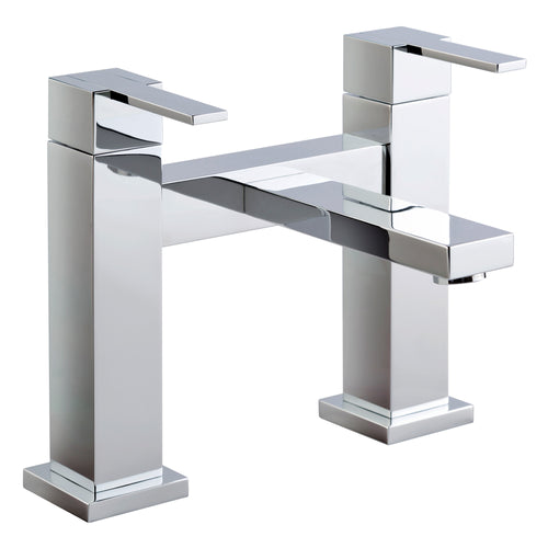 Gaia Chrome Lever Deck Mounted Bath Filler H-Type