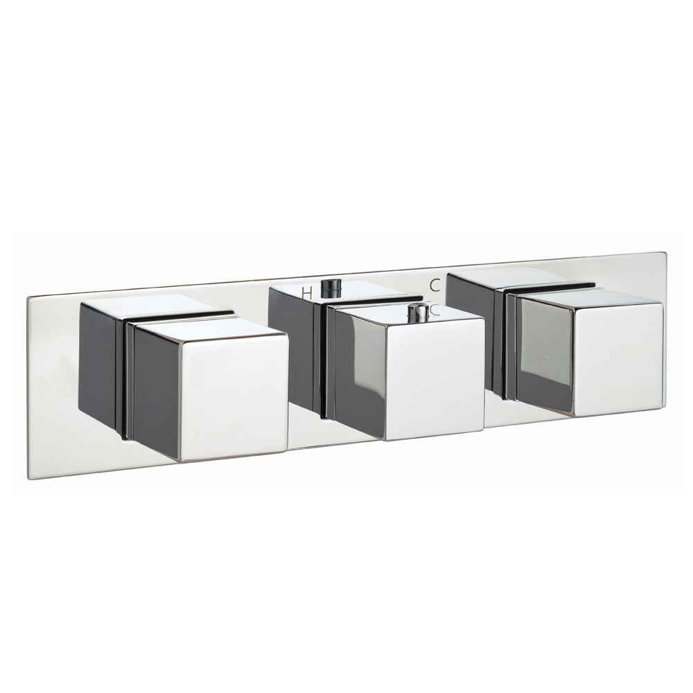 Gaia Slimline 2 Outlet Thermostatic Shower Valve