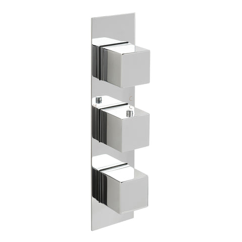 Gaia Slimline Thermostatic Concealed 2 Outlet Shower Valve, LP 0.2 [88690]