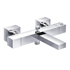Gaia Square Wall Mounted Thermostatic Bath Shower Mixer, HP 1