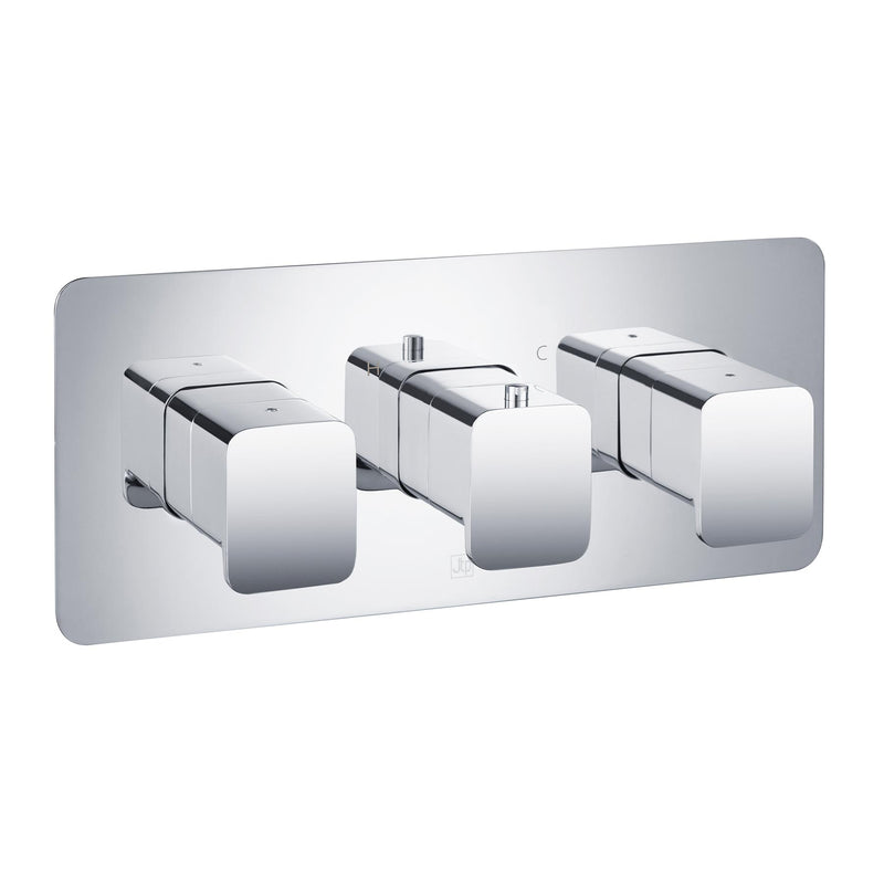 HIX Thermostatic Concealed 3 Outlet Shower Valve - Horizontal MP 0.5