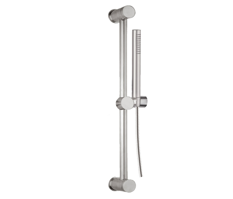 Slide Rail with Handheld Shower & Hose Stainless Steel | tapron.co.uk