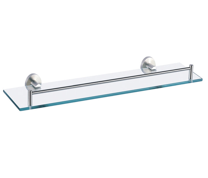 Glass Shelf Stainless Steel - 520mm | tapron.co.uk